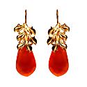 Red Onyx Drop Earrings image