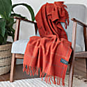 Recycled Wool Blanket In Rust Check image