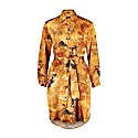 Carte Blanche Yellow Fluorite 100% Silk Shirt Dress image