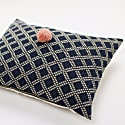 Celia Indigo Diamond Cushion image