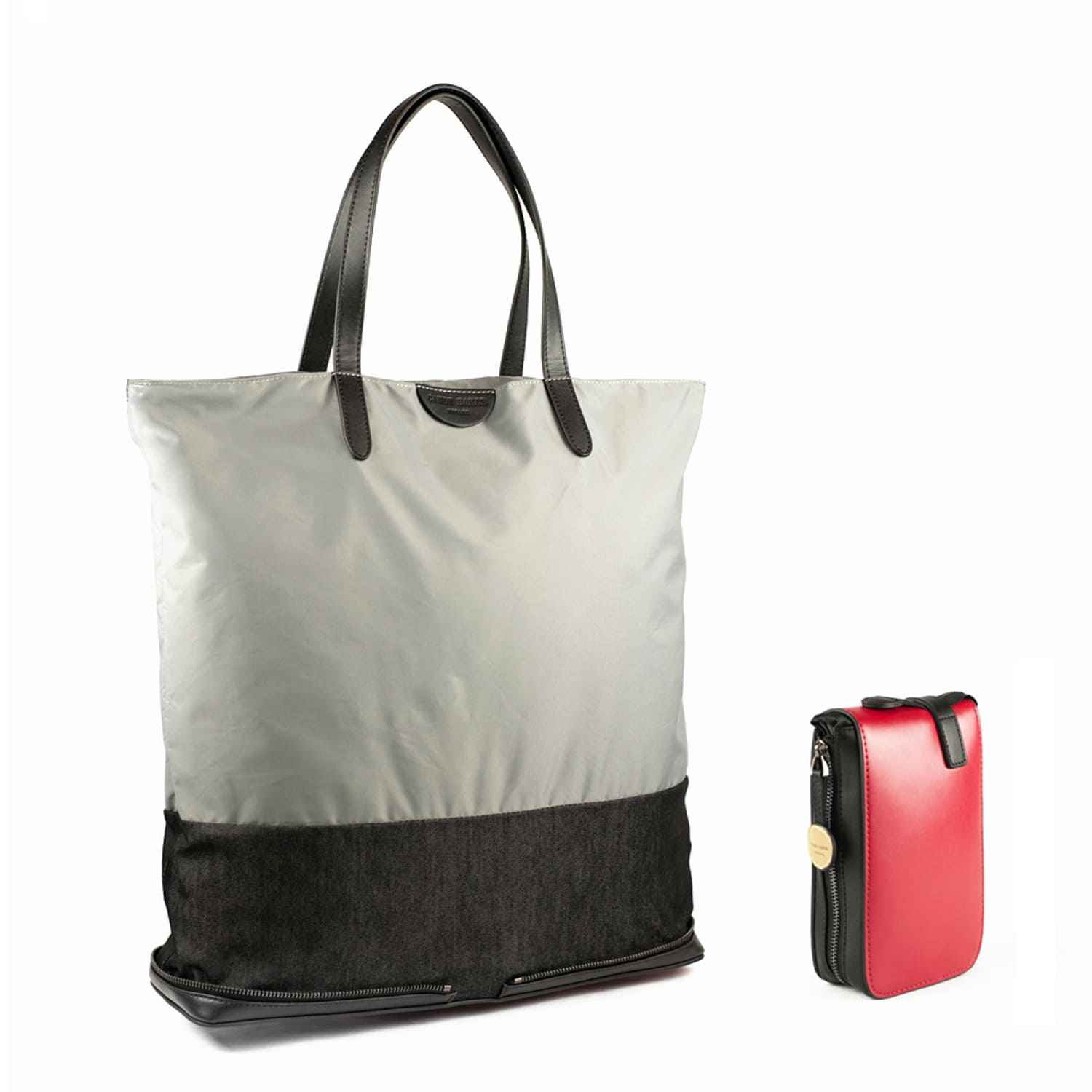 3a94d5f45 London Fold Up Leather Tote Bag Grey | Charlie Baker London | Wolf ...