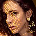 Gold Wink Earrings image