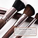Full Vegan Makeup Brush Set - Wood & Rose Gold image