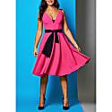 Rayley Dress Pink Crepe With Black Belt image