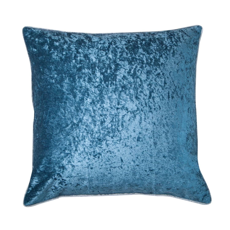 Persian Blue Velvet Cushion Bivain Wolf Badger