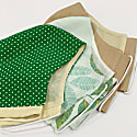 Tencel Reusable Face Masks Pack Of 3 - Green image