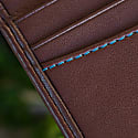 Slim Card Wallet In Chestnut Brown image