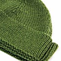 Green Solid Wool Fisherman Beanie image