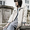 Sand Coloured Cotton Coat With Belt image