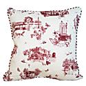 Red Harrogate Toile Print Cushion image