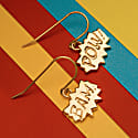 Pow and Bam Drop Earrings in Silver image