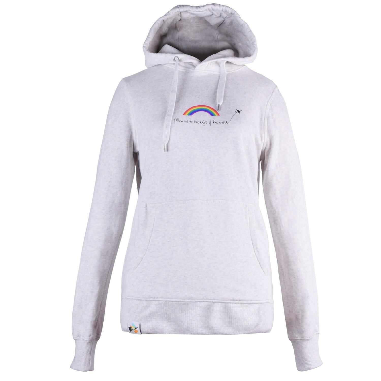 blonde gone rogue - Rainbow Organic Cotton Hoodie In Grey