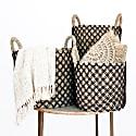 Berawa Woven Basket Black - Set Of 3 image