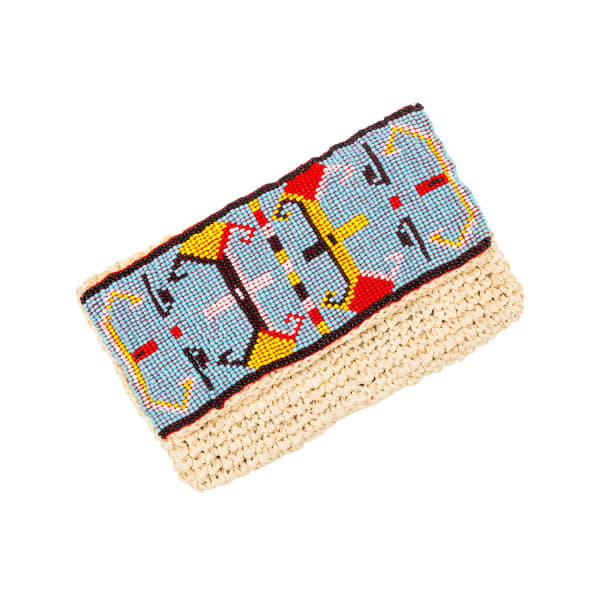 MADEBYWAVE Aztec Blue Clutch