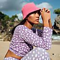 Florette Crochet Bucket Hat In Pink image