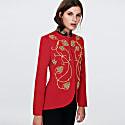 Red Embroidered Blazer Alejandra image