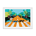 Abbey Road Foxes Illustrated Art Print Of London image