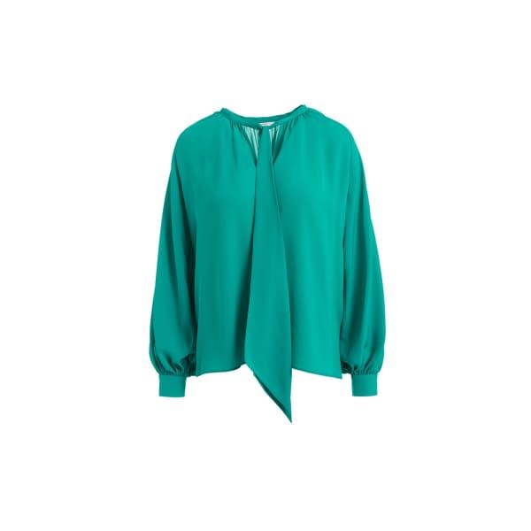WTR  Valentin Green Scarf Silk Blouse