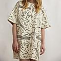 Scribble Print Heavy Tshirt Dress image