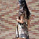 Short Sleeve Wrap Dress Pisang Bali image