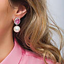 Pink Pearly Earring image