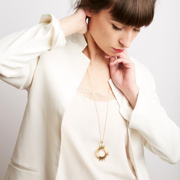 Rachel Jackson London Sunrays Long Necklace In Gold