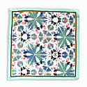 Iguazú Collection Aquamarine Silk Pocket Square image