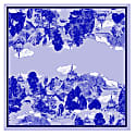 Large Scarf In Le Mont Saint Michael Cornflower Print image