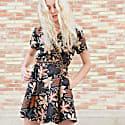 Short Sleeve Wrap Dress Slobog image