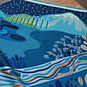 Silk Scarf With Nights Dream In Blue image