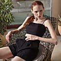 High-Waist Linen Tailored Shorts image