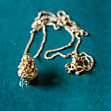 Baby Pine Cone Necklace - Gold image