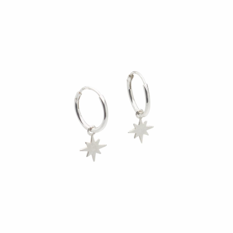 dc7c005f2 Mini Star Hoop Earrings Sterling Silver | Lucy Ashton Jewellery ...