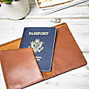 Classic Leather Passport Cover In Vintage Brown image