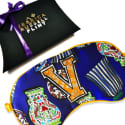 V Is For Vase Silk Eye Mask In Giftbox image
