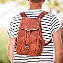 Vida Vintage Classic Leather Backpack - Medium image