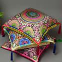 Zellige Pista Large Silk Cushion image