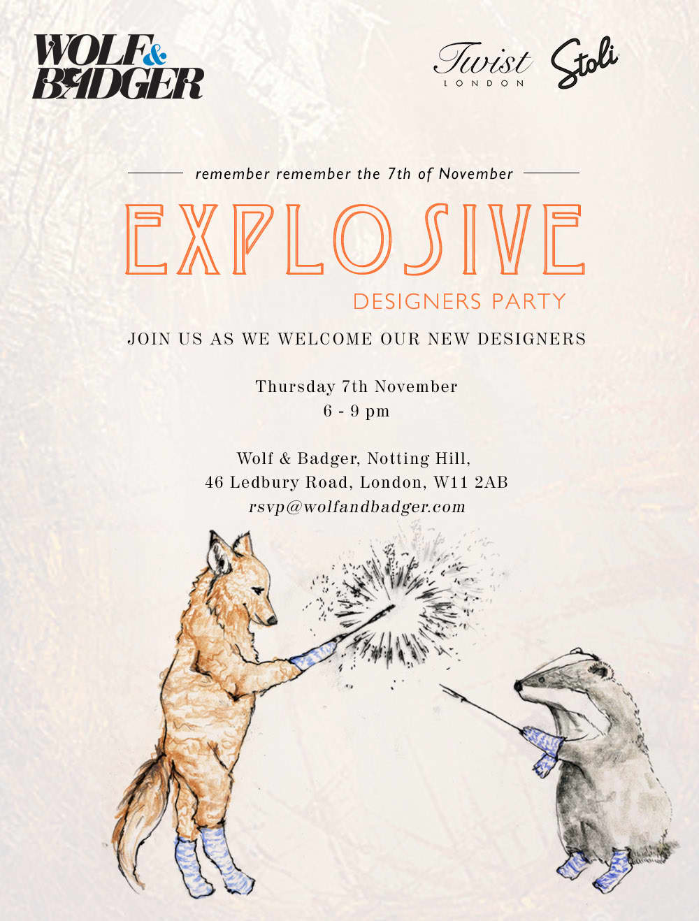 Wolf & Badger's Explosive New Designers Party