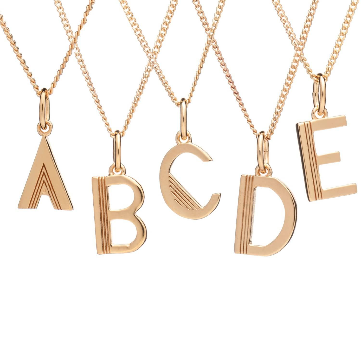 in only vermeil art gv edge letters web gold large products pow necklace