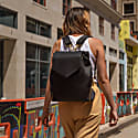 The Professional Armored Leather Backpack Purse In Black image
