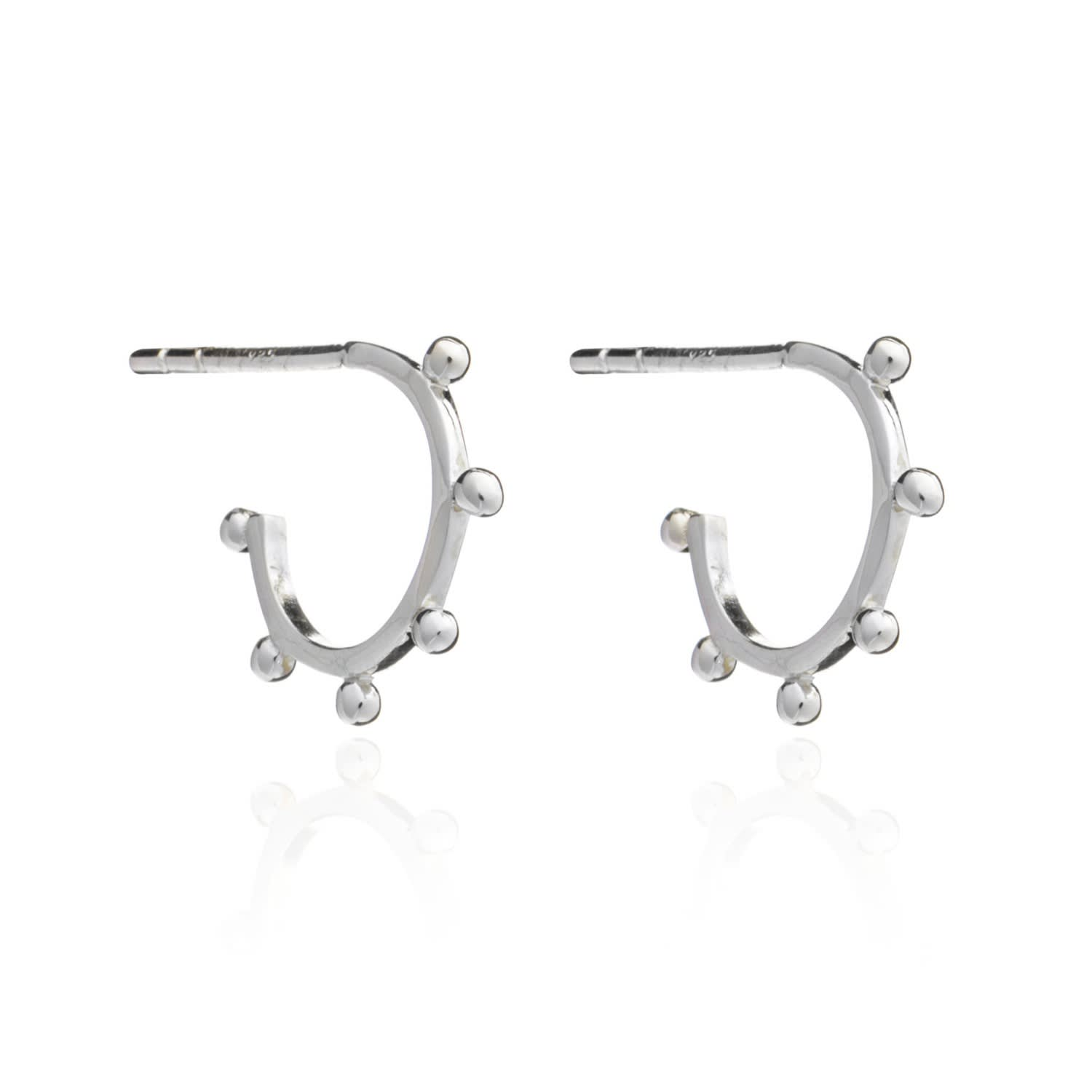 p hoop rhodium length earrings weight tube plated square grams sterling width silver