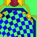Moucharabieh Bleue Silk Chiffon image