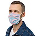 Trippy Stripe Reusable Unisex Face Mask image