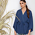 Blue Kimono Wrap Top Massami image