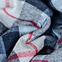 Recycled Wool Blanket In Douglas Navy Tartan image