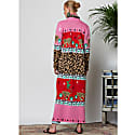 Leopardess Duster in Red & Pink image