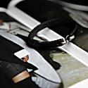 Mens Black Leather Bracelet With Metal Hook Closure image