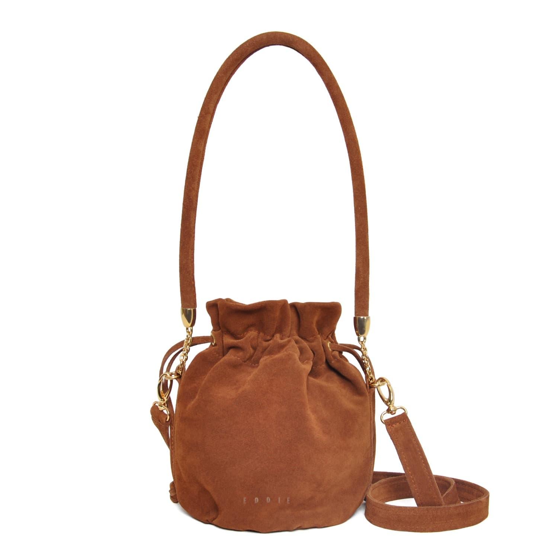 de6bb0d91 Anna Mini Bucket Bag Brown Suede | Eddie | Wolf & Badger