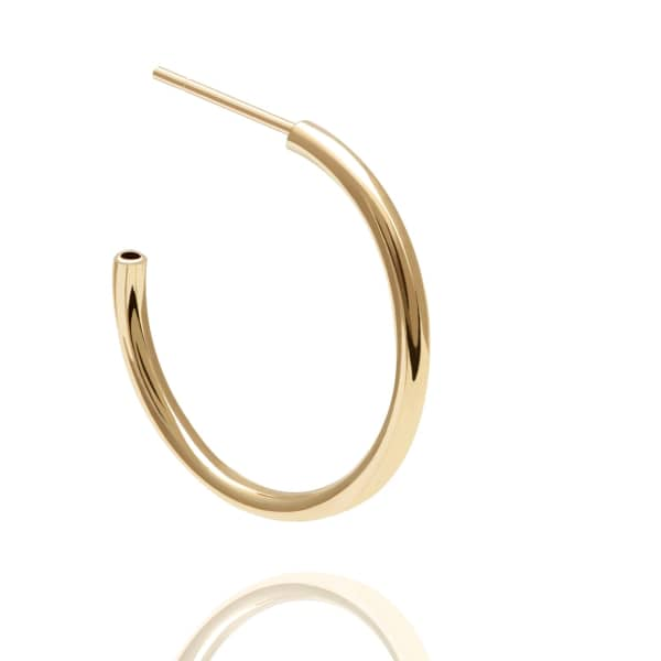 Astrid & Miyu Basic Medium Hoop Earrings In Gold