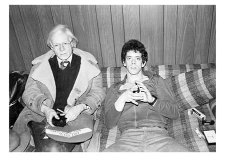 Andy Warhol and Lou Reed 1976